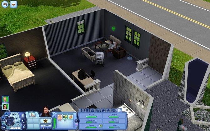 Ein recht trostloses Eigenheim. Hier fehlt es noch an Pep. Ob die Traumsuite-Accessoires den beiden Sims helfen?
