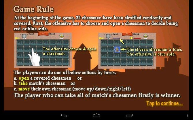 Die erste aufgedeckte Spielfigur bestimmt, welche Farbe ihr steuert.