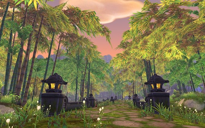 Abgesehen vom Startgebiet der Pandaren, der Wandernden Insel, gibt es auf ...