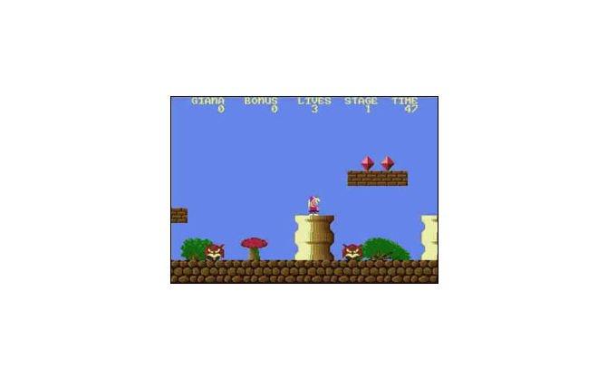 Giana Sisters, obwohl nur eine dreiste Kopie von Super Mario Bros, war ...