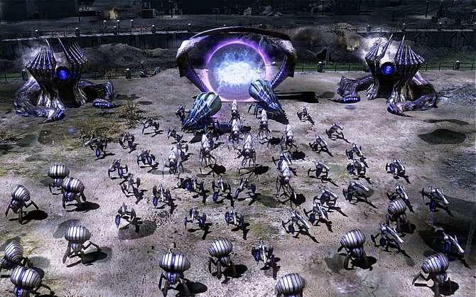 Erstmals ist die außerirdische Lebensform der Scrin neben ...