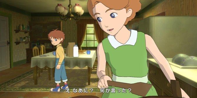 Jetzt seht ihr Ni No Kuni, Teil 1. Olivers Mutter Alice stirbt nach einem Unfall.