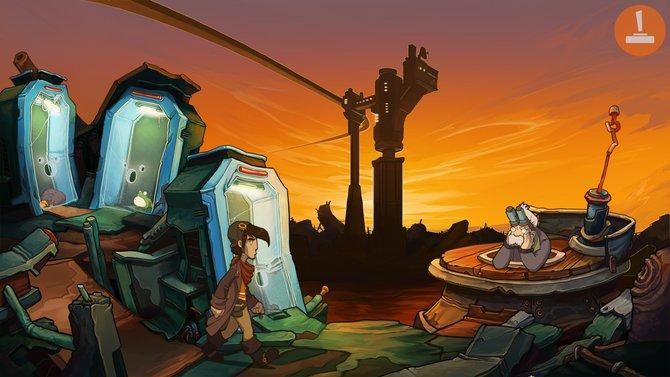 Auf diesem neuen Bild seht ihr Hauptcharakter Rufus vor einer malerischen Abendkulisse.