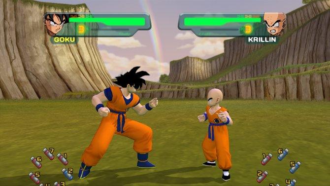 So sieht die überarbeitete Grafik aus. Die beiden Kämpfer im Bild, Son Goku und sein bester Freund Krillin, kennen sich schon seit ihrer Kindheit.