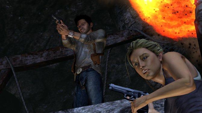 Grafikentwicklung der Uncharted Serie - In Uncharted 1 kommen die Figuren noch mit weniger Details ...