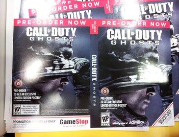 Ein weiteres Bild zeigt ein vorläufiges Cover von Call of Duty - Ghosts.