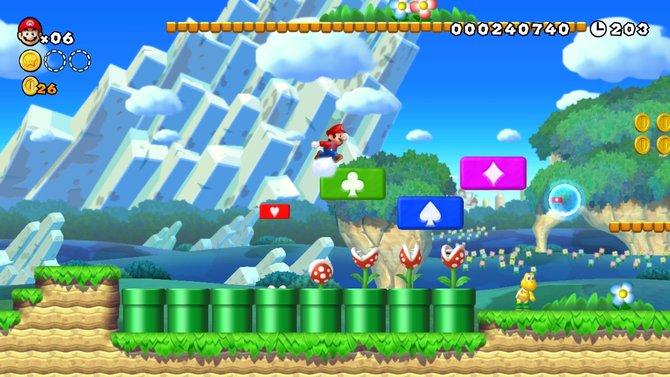Auf der Wii U geht die zweidimensionale Hüpfspiel-Serie New Super Mario Bros. weiter.