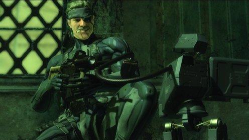 Trotz grauer Haare vergeht Snake das Lachen in Metal Gear Solid 4 - Guns of the Patriots nicht.