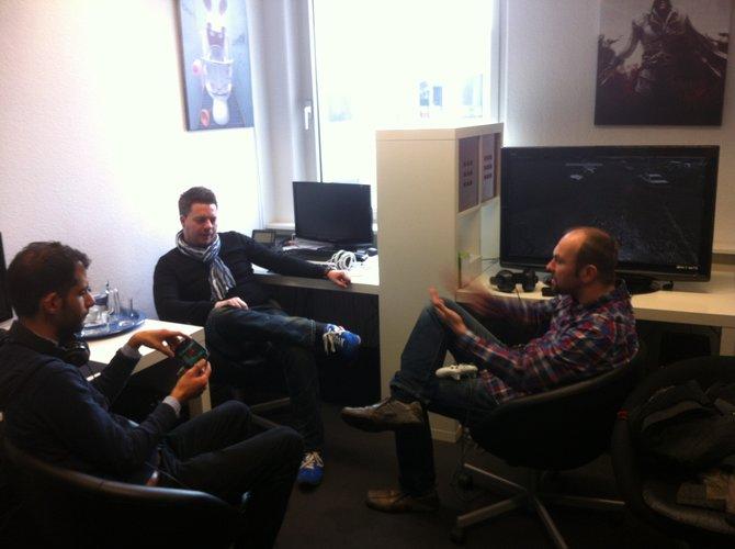 Spielejournalisten testeten im Düsseldorfer Hauptquartier von Ubisoft Deutschland bereits die ...