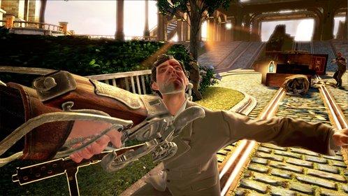 In Bioshock Infinite habt ihr als Held Booker DeWitt den Auftrag, die junge Elisabeth aus der Wolkenstadt Columbia zu retten. (Bioshock Infinite)
