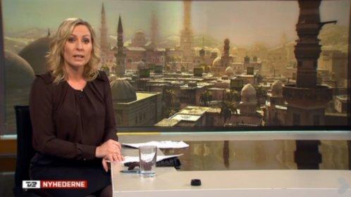 Der dänische Nachrichtensender TV2 zeigt Damaskus aus dem Spiel Assassin's Creed.