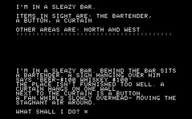 Vom ersten einfachen Textadventure (Softporn Adventure), über ...