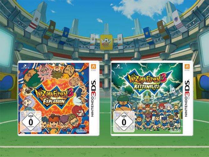 Am 27. September erscheinen voraussichtlich die neuen Fußball-Rollenspiele Inazuma Eleven 3 - Explosion und Kettenblitz.