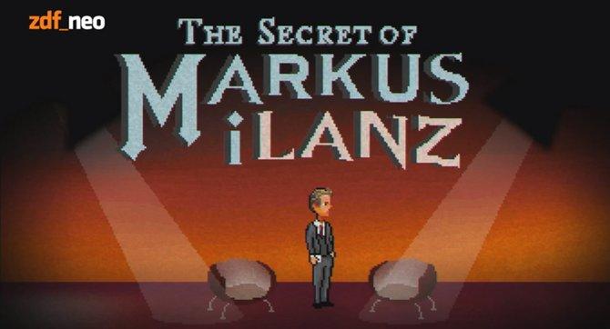 Der Titelbildschirm von The Secrets of Markus iLanz.