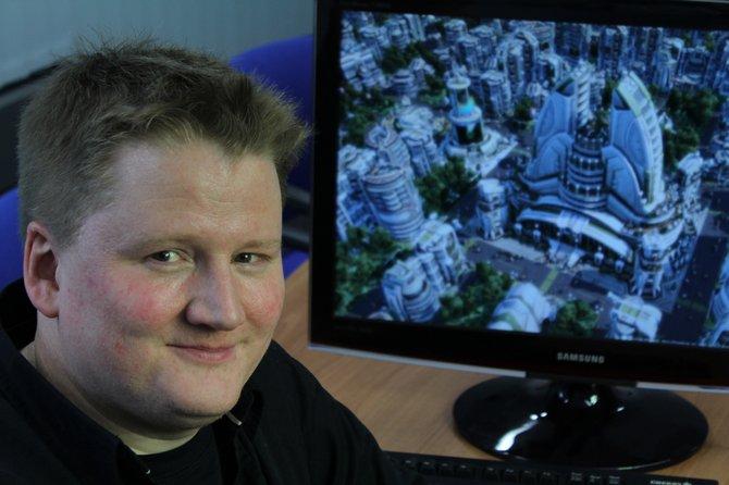 Produzent Christopher Schmitz (Bild links) arbeitet derzeit mit den Entwicklern von Related Designs an Anno 2070. Der Mainzer Entwickler residiert im vierten Stock der R�merpassage, ...