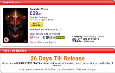Erscheint Diablo 3 bereits am 1. Februar bei uns und am 3. Februar in Großbritannien?