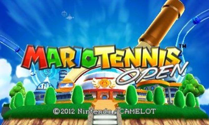 Blauer Himmel, bunte Buchstaben - da weiß man, dass man bei Nintendo ist.