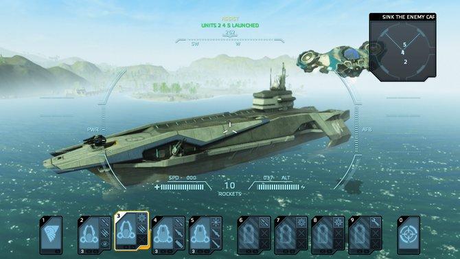 Dieser Flugzeugträger dient als Basis eurer Eroberungen.