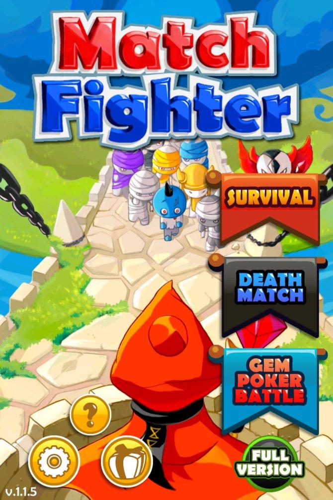 Verwirrend: Mal heißt das Spiel Jewel Fighter, mal Match Fighter!