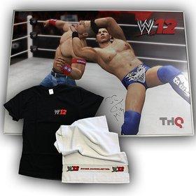Der heutige Hauptgewinn ist eine signierte WWE-12-Leinwand mit T-Shirt und Handtuch.