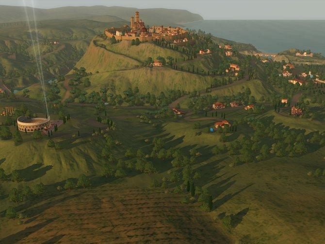 Die Sims schnuppern in Monte Vista italienische Luft.