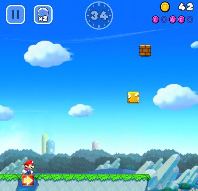 In dem Modus namens Welten erlebt ihr das klassische Gameplay von Super Mario.