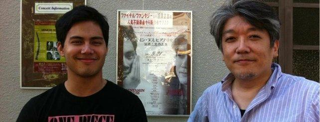 Pianist Benyamin Nuss (links) spielt die Kompositionen von Masashi Hamauzu.