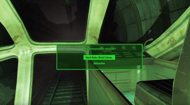 Ihr verlasst das Commonwealth, also holt euch nochmal Ausrüstung nach.