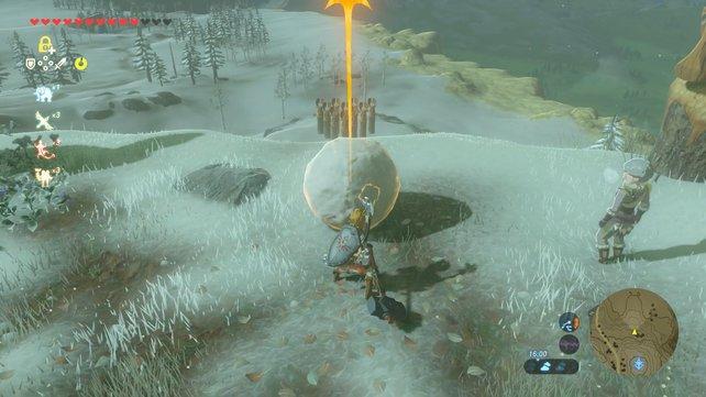 Schneeball-Kegeln: Eines der spaßigsten Minispiele in Zelda - Breath of the Wild.