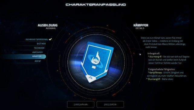 Die Ausbildung in Mass Effect - Andromeda schränkt euch in der Skillung kaum ein.