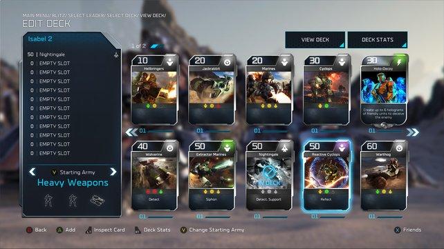 Neue Karten gibt es per Booster-Pack – mehr als zwölft dürft ihr pro Runde aber nicht nutzen.