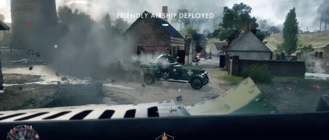 Panzerwagen im Gefecht.