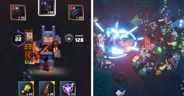 Mit Lama und Angel in den Kampf: In Minecraft Dungeons wandelt ihr alles in Waffen um.
