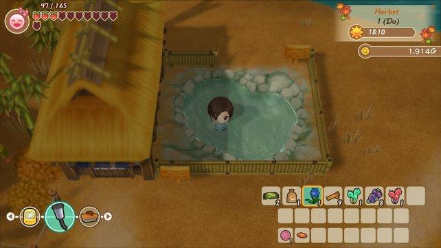 Ein Bad in der heißen Quelle tut nicht nur der Seele gut.