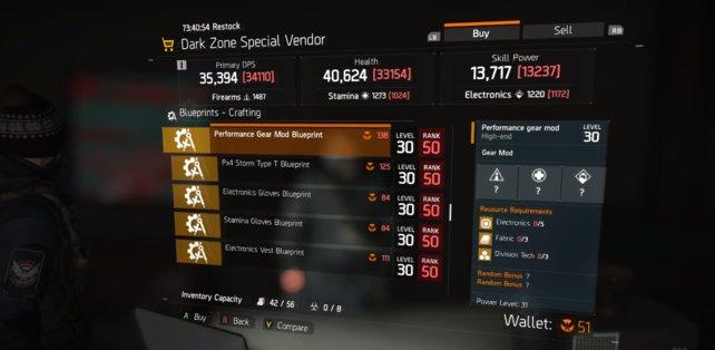Spezial-Händler in der Dark Zone akzeptieren nur Phoenix Credits