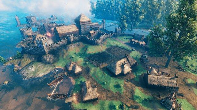 Mit den richtigen Materialien könnt ihr nicht nur Häuser bauen, sondern auch kleine Festungen in Valheim errichten.