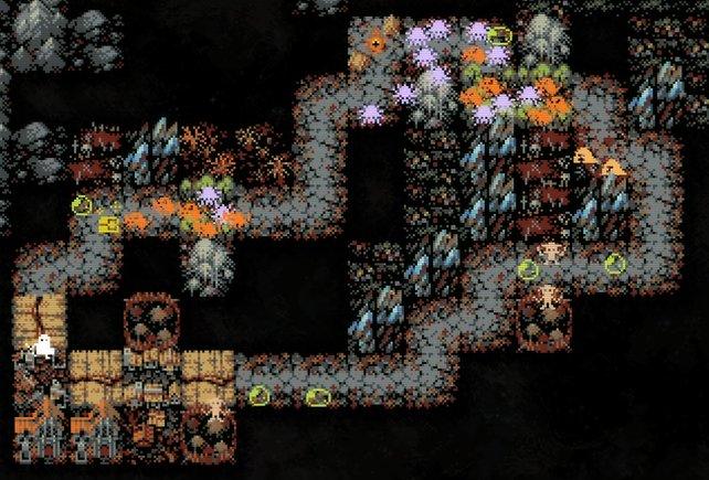 Hier sehen wir viele Felder mit mehreren schwachen Gegnern (Bild: Loop Hero | Devolver Digital & Four Quarters)