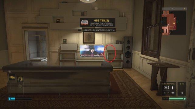 Dort findet ihr den Schalter, der die Geheimtür zum Kontrollraum öffnet.