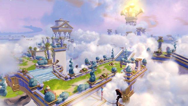 Auch zu Fuß erwartet euch viel Arbeit und erforscht das Unbekannte, das sich in Wolken hüllt.