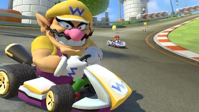 Wario gehört zu den schnellsten Fahrern in Mario Kart 8 Deluxe.