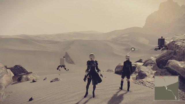 Eine Wüste ist nun mal leer. Das spiegelt auch der Grafikstil wider.