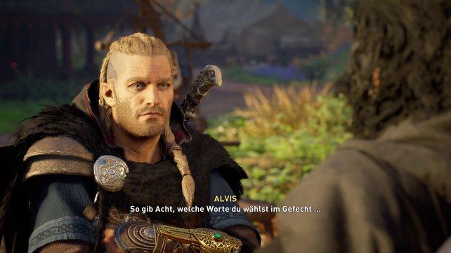 Alvis weiht euch am Anfang eures Abenteuers in die Kunst des Spottstreit ein.