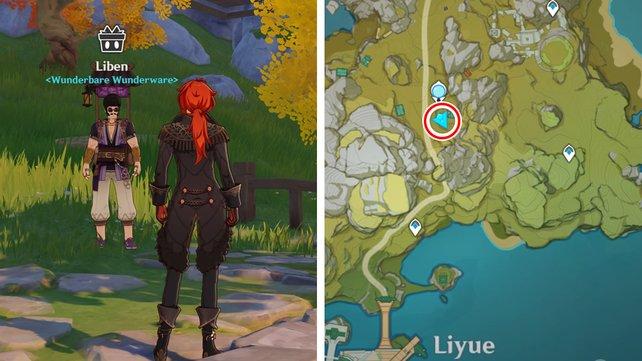 Die Karte zeigt euch Libens Standort an Tag 6.