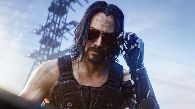 Schauspieler Keanu Reeves werdet ihr ebenfalls auf der Xbox Series X in Cyberpunk 2077 erleben können.