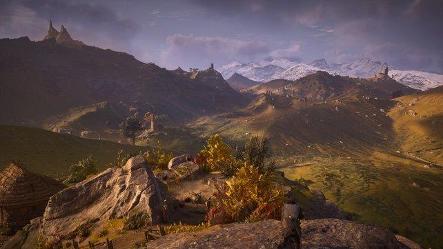 Die offene Spielwelt bietet spektakuläre Ausblicke und kann mit der stärksten Konkurrenz mithalten.