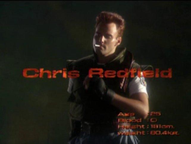 Cool mit Kippe: Chris Redfield, einer der spielbaren Charaktere, im Live-Vorspann.