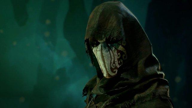 Die Anhäger des Cthulhu-Kultes verbergen ihre Gesichter hinter Masken, die das Antlitz des Großen Alten darstellen sollen.