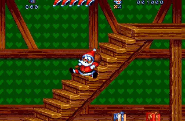 Glatte Stufen! Eine tödliche Falle, selbst für Santa Claus.