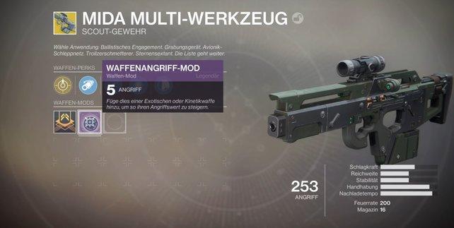 +5 Power: Mods können sämtliche Items in Destiny 2 auf ein höheres Power-Level bringen.