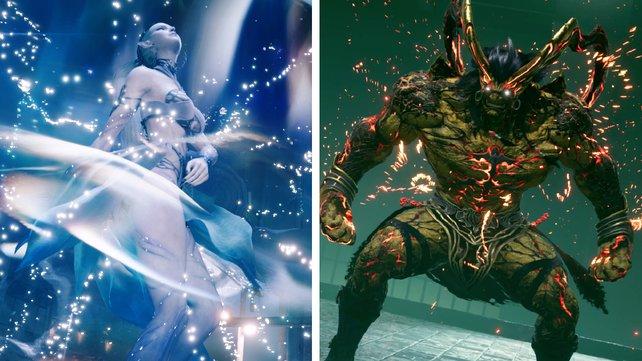 Die zwei bekanntesten Esper Ifrit und Shiva sind natürlich auch im Remake von FF7 wieder dabei.